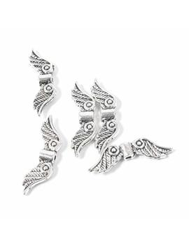 Zuoyou 50 Pcs 20mm Angel Wing Spacer Metal Beads Diy For Bracelets Necklace Silver by Zuoyou