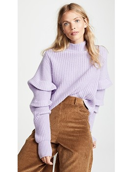 Crop Mock Neck With Pleat Sleeves by Autumn Cashmere