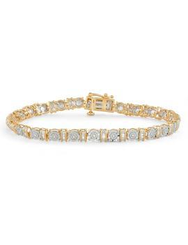 Gold Tone Sterling Silver 1/4 Carat T.W. Diamond Bracelet by Kohl's