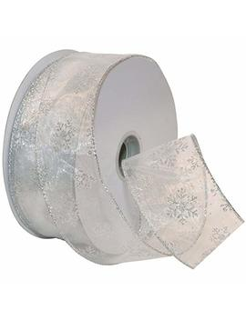Morex Ribbon B00 A23 Jctu, White/Silver by Morex Ribbon