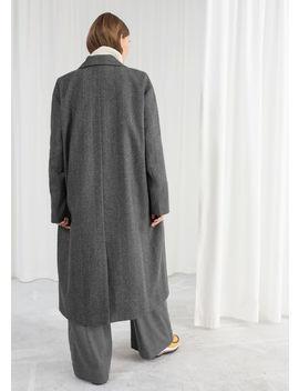 Herringbone Wool Blend Coat by & Other Stories