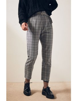 Kendall + Kylie Belted Plaid Pants by Pacsun