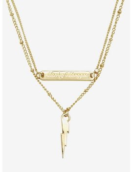 Harry Potter Mischief Managed Lightening Bolt Layered Necklace by Hot Topic