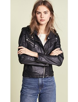 Hoodie Leather Jacket by Doma