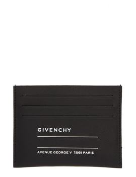 Iconic Address Print Lambskin Card Holder by Givenchy