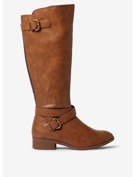 Tan 'torrence' Rider Boots by Dorothy Perkins