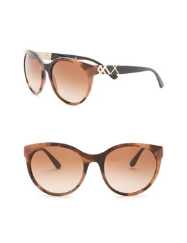 56mm Heritage The Regent Round Sunglasses by Burberry