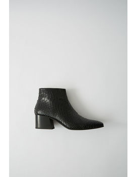 Snake Skin Boots Black by Acne Studios