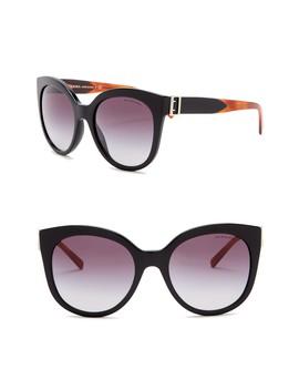 55mm Cat Eye Sunglasses by Burberry