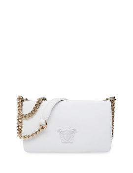 Lamb Leather Shoulder Bag With Medusa Head by Versace