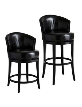 Black Swivel Counter & Bar Stool by Isaac Collection