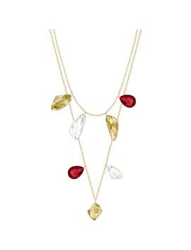Prisma Versatile Necklace, Multi Colored, Gold Plating by Swarovski