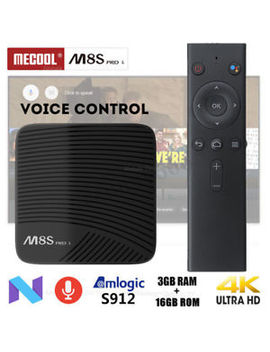 Uk Mecool M8 S Pro L 3 Gb+16 Gb Android Wi Fi S912 Octa Core Voice Control 4 K Tv Box by Ebay Seller
