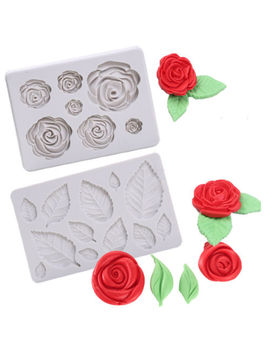 3 D Rose Flower Leaf Silicone Fondant Chocolate Mould Cake Decor Sugarcraft Mold by Unbranded/Generic