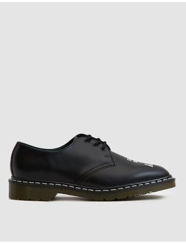 Nbhd 1461 Vintage Smooth Leather Shoe In Black by Dr. Martens