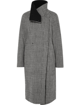 Terrance Reversible Houndstooth Wool Coat by Akris