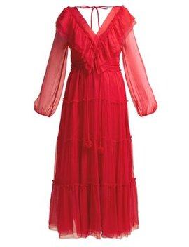 Bluebelle Silk Georgette Midi Dress by Lee Mathews