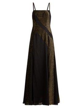 Martina Crepe And Devoré Velvet Dress by Zeus + Dione