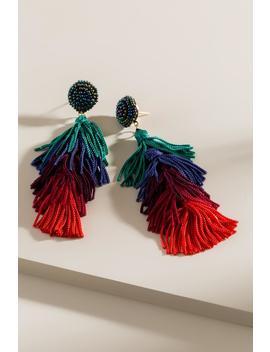 Glinda Tassel Drop Earrings by Francesca's