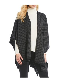 Mini Houndstooth Knit Wrap by Fraas