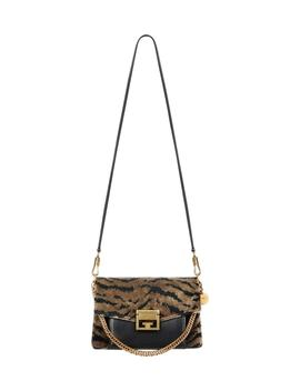 Gv3 Zebra Jacquard & Leather Crossbody Bag by Givenchy