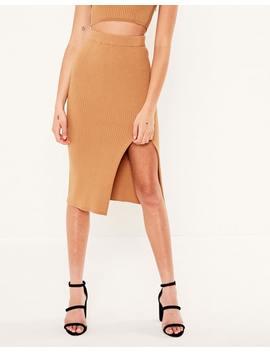 Slim Fit Midi Skirt by Glassons