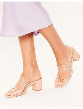 Perspex Strappy Mule by Glassons