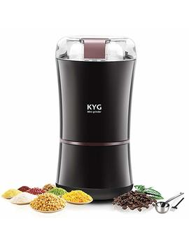 Kyg 300W Electric Coffee Mill Grinder Coffee Beans Spices Nuts Grain Coffee Grinder With Stainless Steel Blade, 50g Capacity Black by Amazon