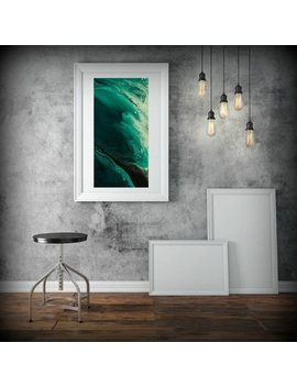 Abstract Wall Art Print, Abstract Print, Green Minimalist Painting, Modern Art Home Room Decor, Minimalist Wall Art by Etsy