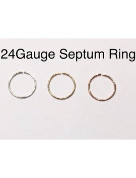 Septum Sterling Silver,14k Rose Gold , 14k Yellow Gold Filled Septum Ring 18 G 20 G 22 G 24 G 6mm 7mm 8mm 9mm 10mm Silver Filled Nose Hoop Ring by Etsy