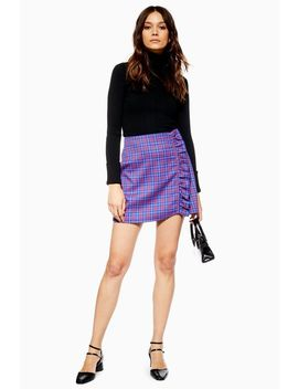 Check Frill Mini Skirt by Topshop