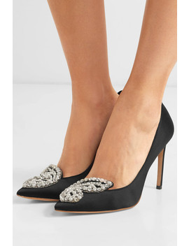 Bibi Butterfly Embellished Satin Pumps by Sophia Webster
