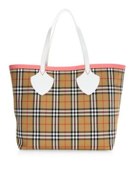 Giant Check Tote by Burberry