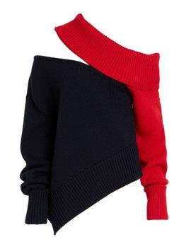 Two Tone Slashed Sweater by Monse