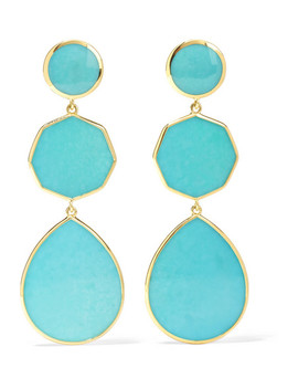 Polished Rock Candy Crazy 8's 18 Karat Gold Turquoise Earrings by Ippolita