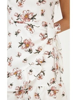 Lost In My Thoughts Dress In White Floral by Showpo Fashion