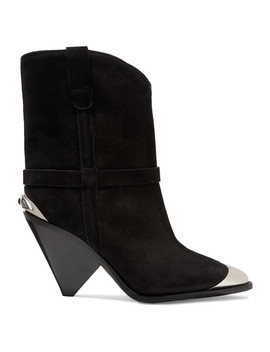 Lamsy Embellished Suede Ankle Boots by Isabel Marant