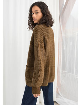 Overzied Rib Knit Cardigan by & Other Stories