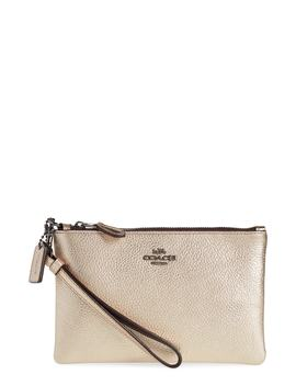 Metallic Leather Wristlet by Coach