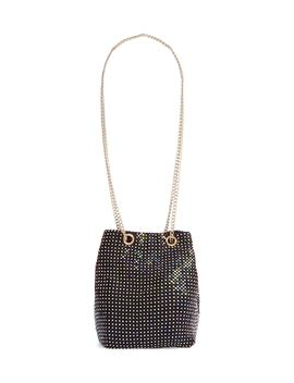 Disco Crystal Mesh Pouchette by Nordstrom