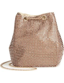 Crystal Mesh Crossbody Bucket Bag by Nordstrom