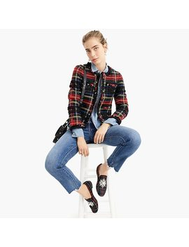 Stewart Tartan Lady Jacket With Braided Trim by J.Crew