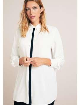 Combined Flowy Shirt by Mango