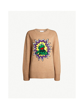 The Muppet Show X Sandro Intarsia Wool Jumper by Sandro