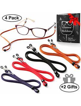Eyeglasses Holder Strap Cord   Premium Eco Leather Eyeglasses String Holder Chain Necklace   Glasses Cord Lanyard   Eyeglass Retainer by Se Guny