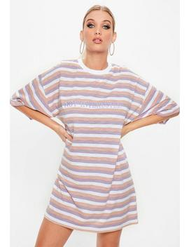 Tall Lilac Not Interested T Shirt Dress by Missguided