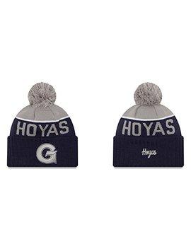 New Era Georgetown Hoyas Adult Sport Knit Pom Beanie   Team Color, by New Era