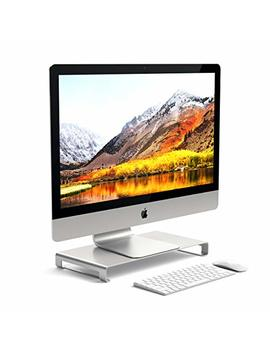 Satechi Aluminum Universal Unibody Monitor Stand   Compatible With 2017/2018 Mac Book Pro, I Mac Pro, Google Chromebook, Microsoft Surface Go, Dell, Asus And More (Silver) by Satechi