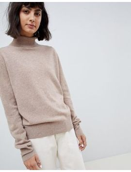 Asos White 100 Percents Cashmere Sweater With Roll Neck by Asos White