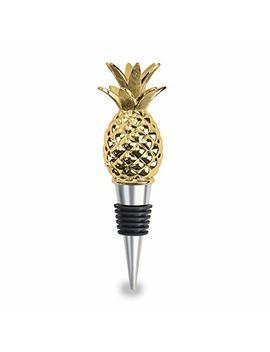 Wild Eye Designs Golden Pineapple Wine Stopper by Wild Eye Designs